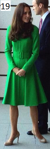 Catherine Walker green coat dress