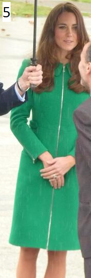 Erdem emerald green coat