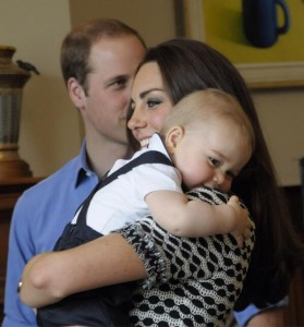 Kate holding George
