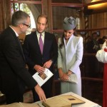 Will and Kate before signing