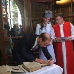Will signing book of common prayer