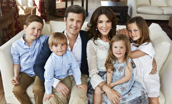 Crown Prince Frederik & Crown Princess Mary & family
