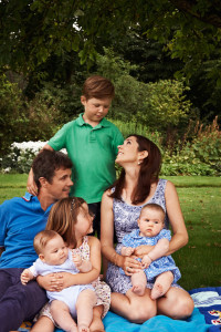 Crown Prince Frederik & Crown Princess Mary family