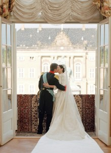 Crown Prince Frederik & Crown Princess Mary wedding kiss