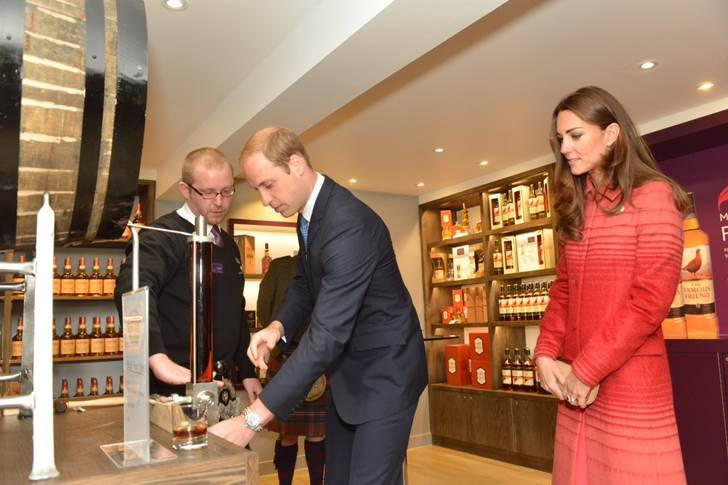 Will and Kate bottle whisky