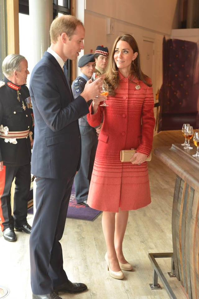Will and Kate taste whisky