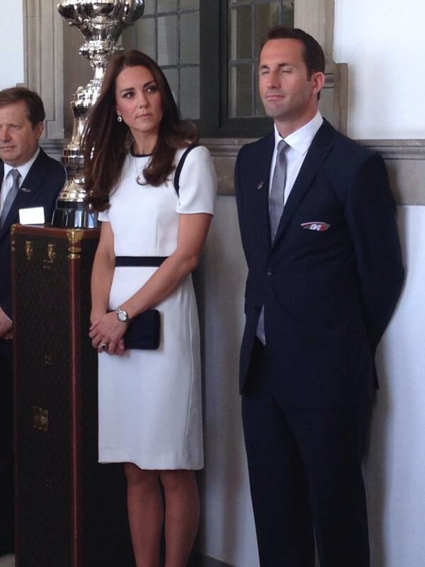 Kate Middleton and Ben Ainslie at Maritime Museum