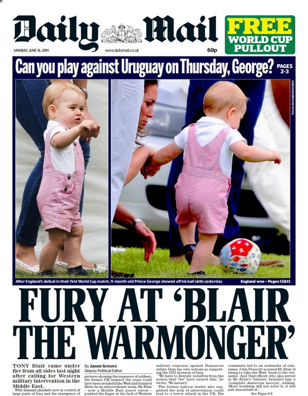 Prince George front page