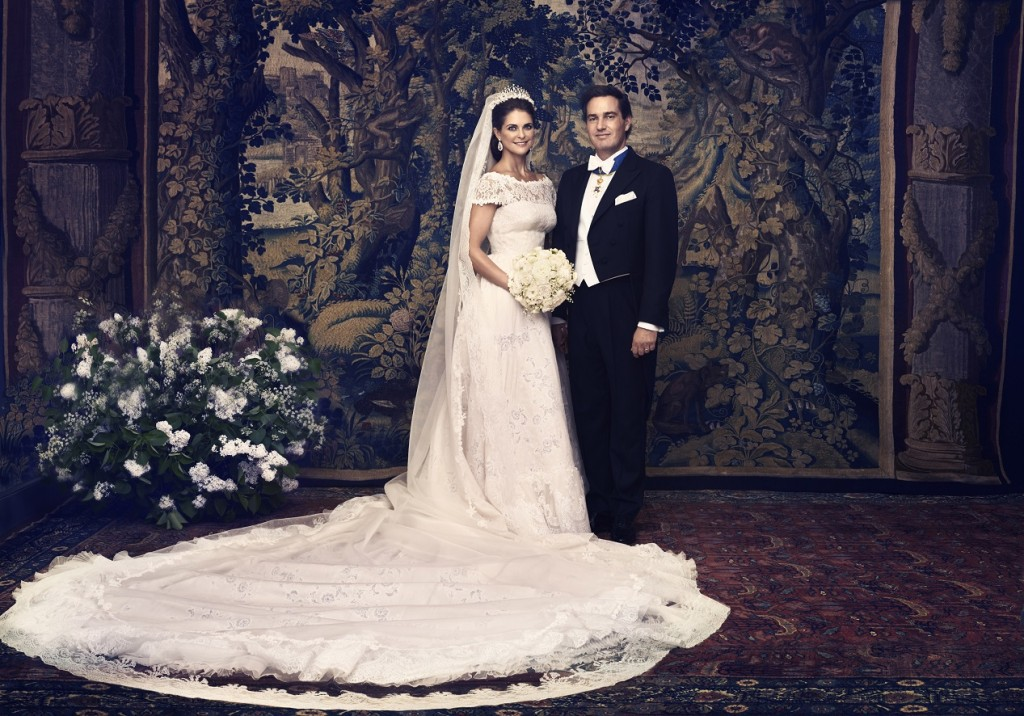 Princess Madeleine and Chris O'Neill Wedding Photo.