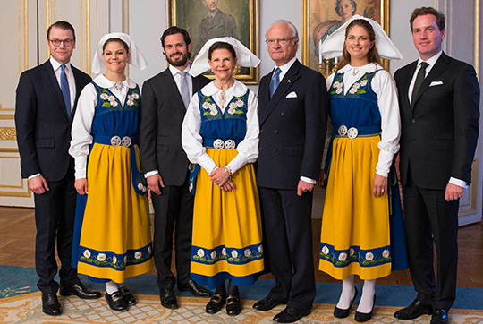 Swedish Royal Family on National Day