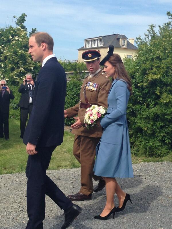 William and Kate in Normandy