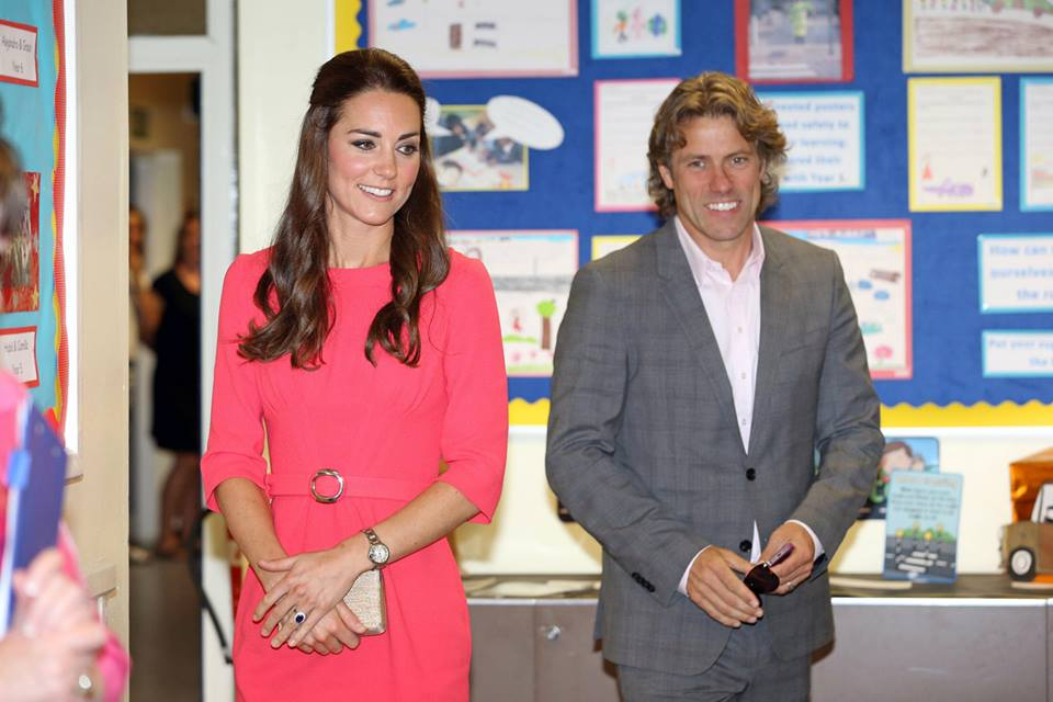 Kate Middleton and John Bishop
