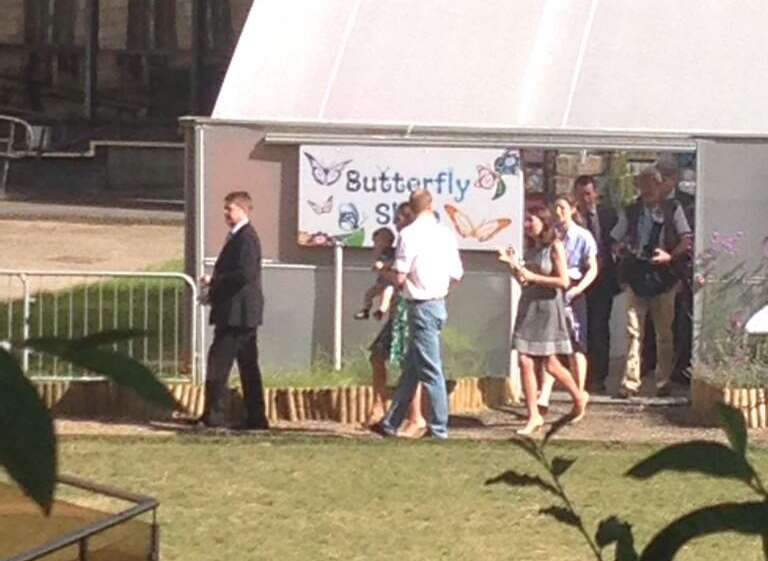 Kate, Will, and George at Sensational Butterflies 3, by @Em_Rickard