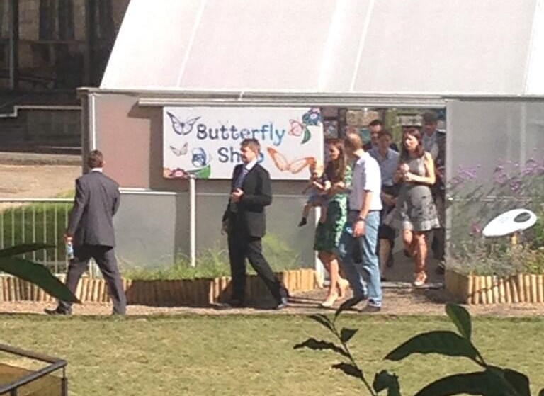 Kate, Will, and George at Sensational Butterflies, by @Em_Rickard