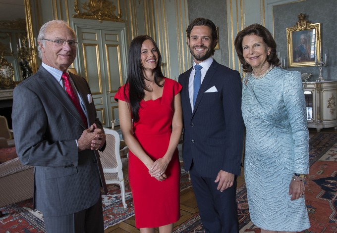 Prince Carl Philip Sofia Hellqvist with king and queen engagement photo