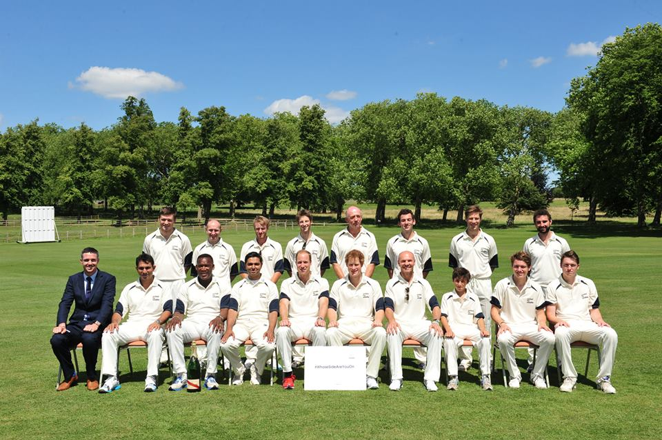 Will and Harry cricket team photo