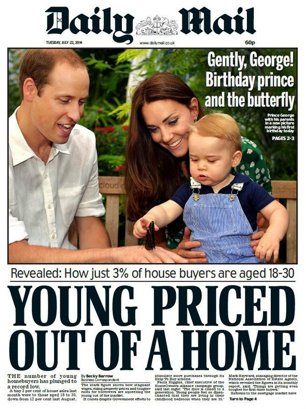 Will and Kate George Daily Mail cover