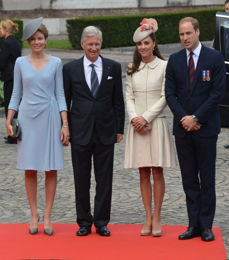 Kate and William with Philipe and Mathilde