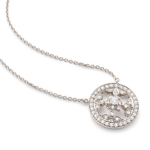 Mappin and Webb Empress Mini White Gold and Diamond pendant
