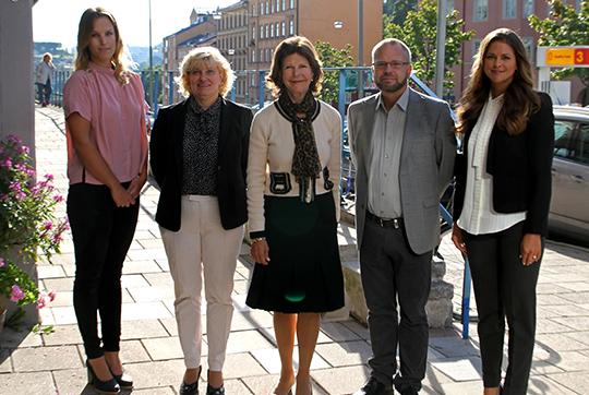 Princess Madeleine and Queen Silvia and staff Ersta Child Rights Bureau
