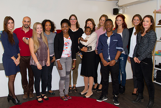 Princess Madeleine and Queen Silvia and staff and people Ersta Child Rights Bureau