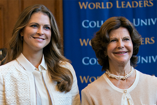 Queen Silvia and Princess Madeleine attend World Leaders Forum