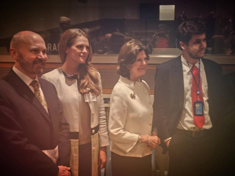 Queen Silvia and Princess Madeleine speak at UN 3