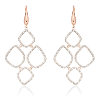 RIVA DIAMOND CLUSTER DROP EARRINGS