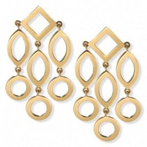 "Cassandra Goad ""Temple of Heaven"" gold girandole earrings"