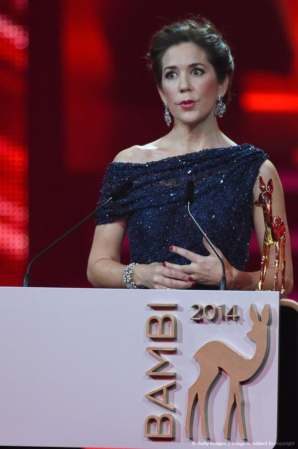 Crown Princess Mary Bambi Awards close up
