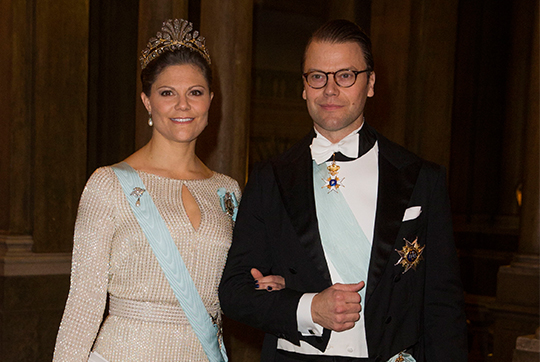 Crown Princess Victoria and Prince Daniel Official Dinner at Royal Palace