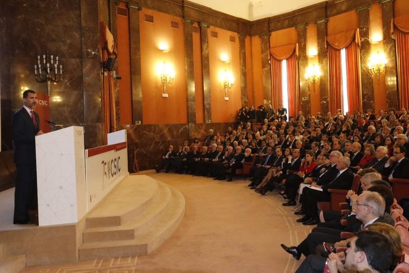 Felipe gives a speech at CSIC 2