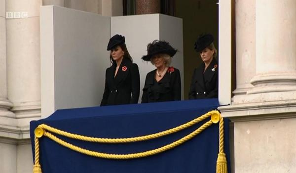 Kate, Camilla, and Sophie at Remembrance Sunday