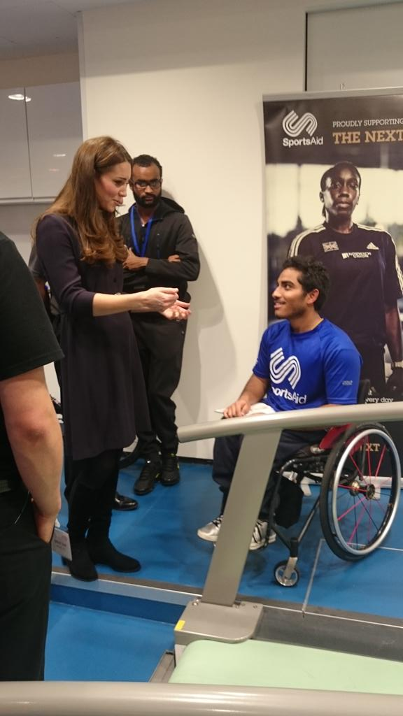 Kate Middleton at SportsAid workshop 2