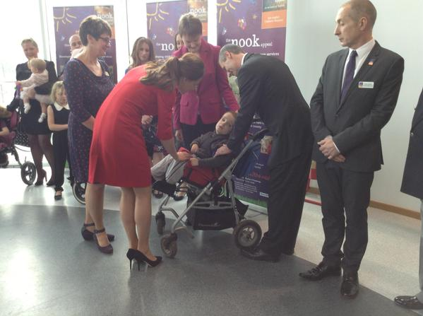 Kate Middleton meeting EACH kids
