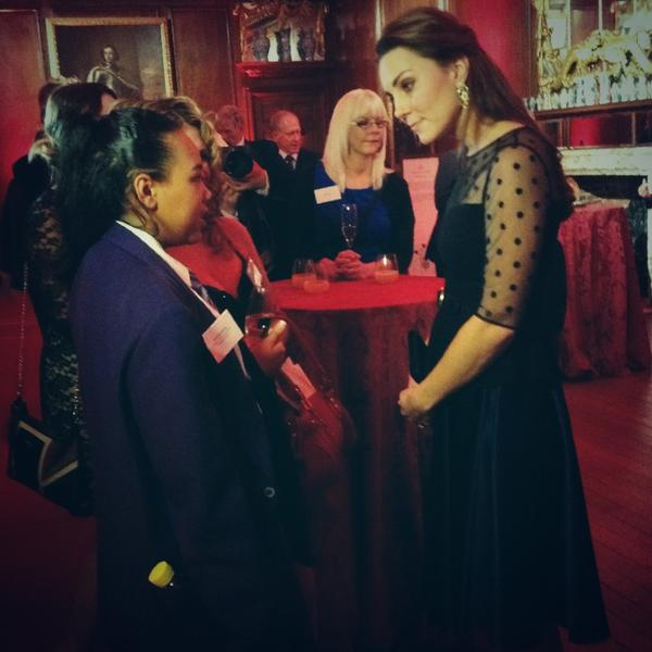 Kate Middleton meets Ashantae Ahmet at Place2Be awards