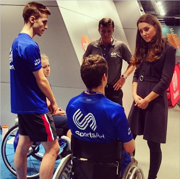 Kate Middleton meets SportsAid athletes