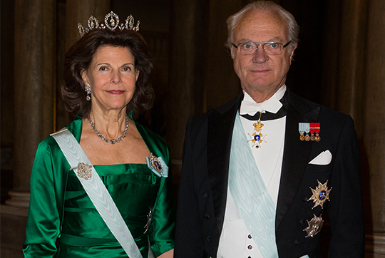King Carl XVI Gustaf and Queen Silvia Official Dinner at Royal Palace