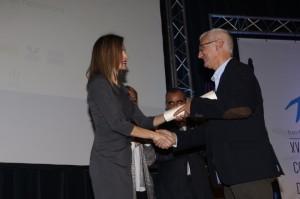 Letizia awarding Josep Luis Riera Moll