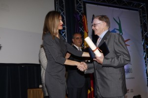 Letizia awarding Peter Coll Llobera