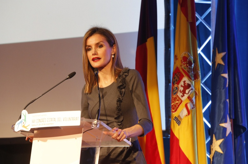 Letizia speaking at National Conference on Volunteering