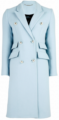 Matthew Williamson Wool Double Breasted Coat