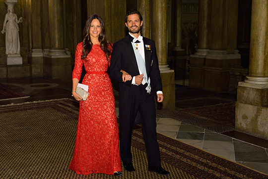 Prince Carl Philip and Sofia Hellqvist Official Dinner at Royal Palace
