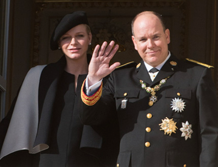 Princess Charlene and Prince Albert Monaco National Day close-up