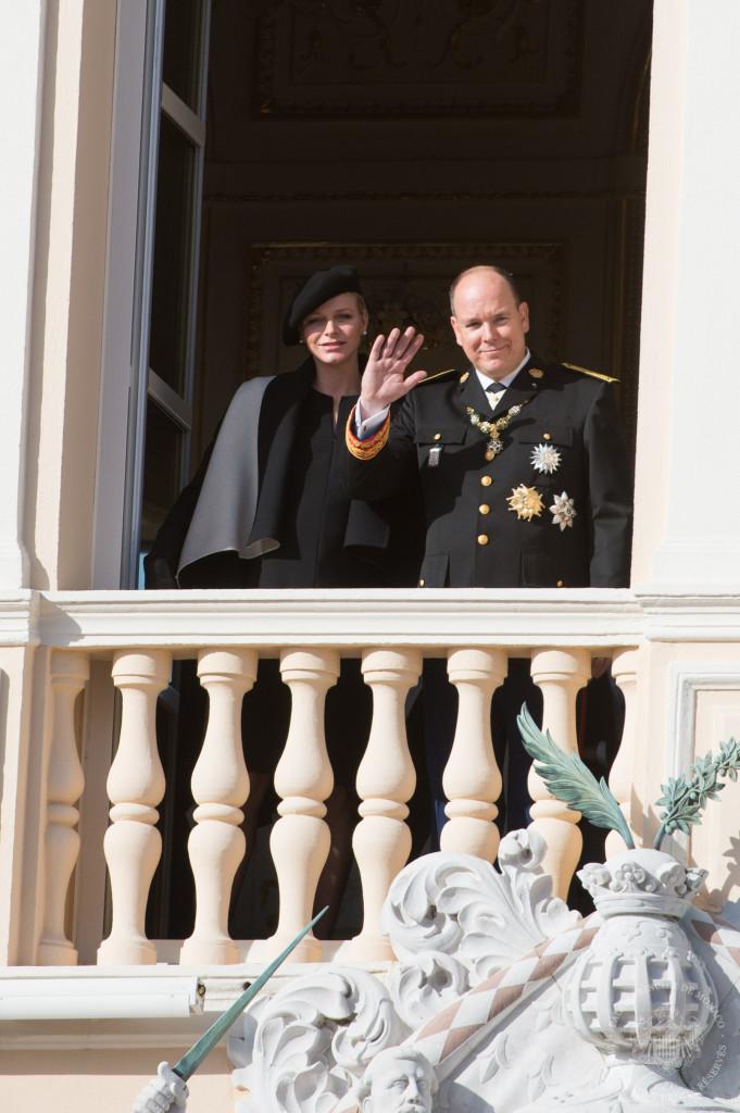 Princess Charlene and Prince Albert Monaco National Day full