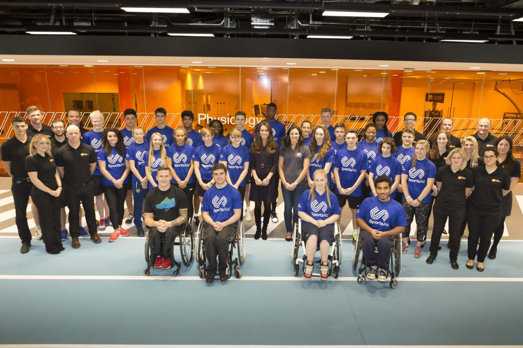 SportsAid Kate at workshop group photo