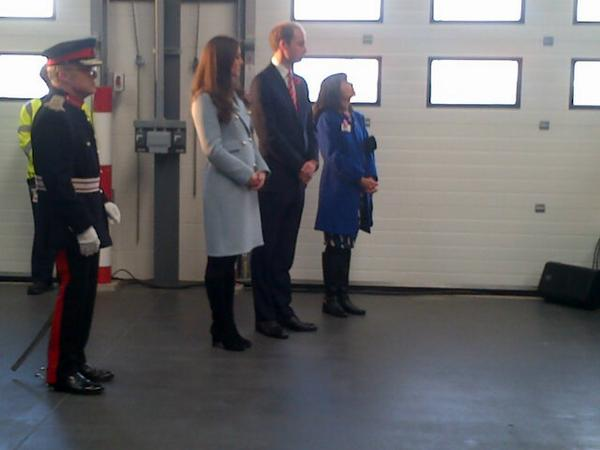 Will and Kate at oil refinery.