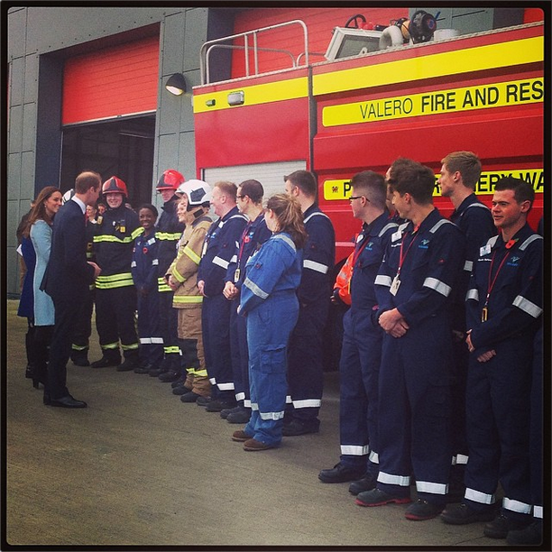 Will and Kate meet firefighters