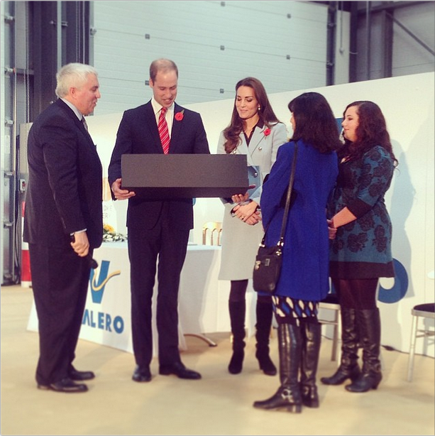 Will and Kate presented with a toy truck for George