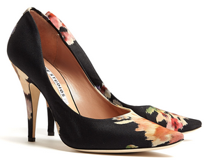 Acne Studios Floral Nova Fabric Flower Print Court Shoe